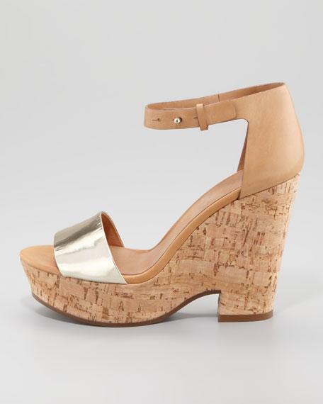Specchio Cork Wedge Sandal