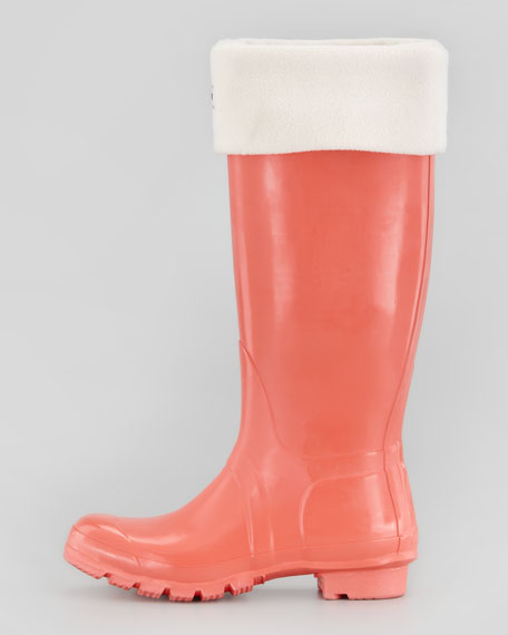 Original Gloss Welly Boot, Flame Coral