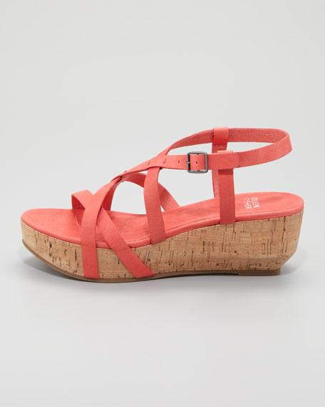 Array Cork Sandal, Peony Coral
