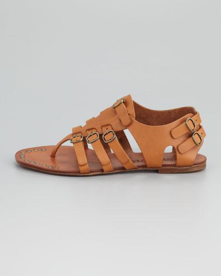 Galatea Buckle Thong Sandal, Maple