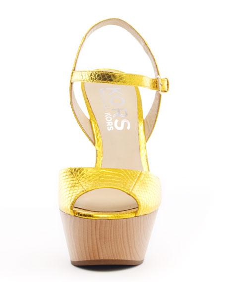 Iden Snake-Print Platform Sandal