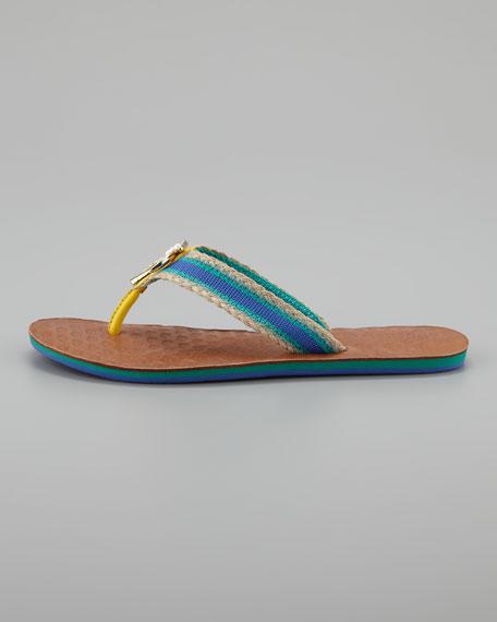 Fay Palm-Jewel Flip Flop, Green