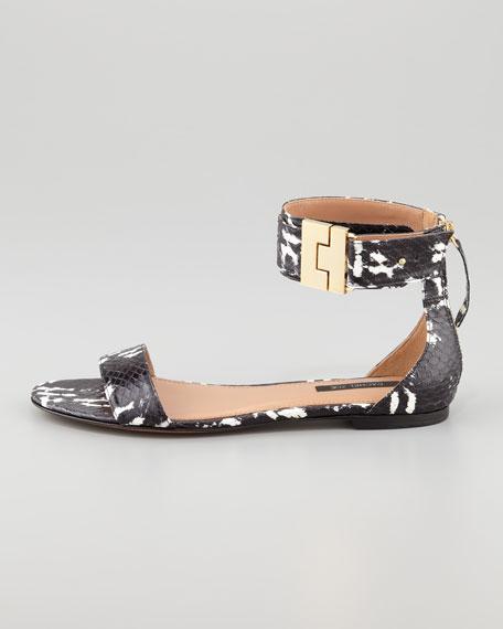 Gladys Watersnake Flat Sandal