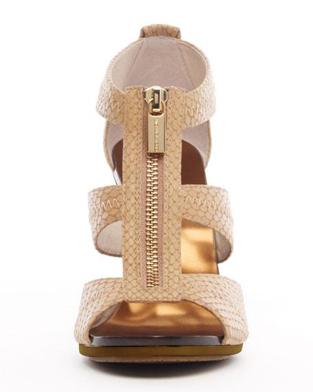 Berkley Snake-Embossed Sandal