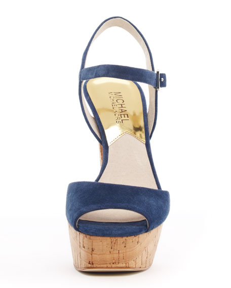 Lucia Suede Platform Sandal
