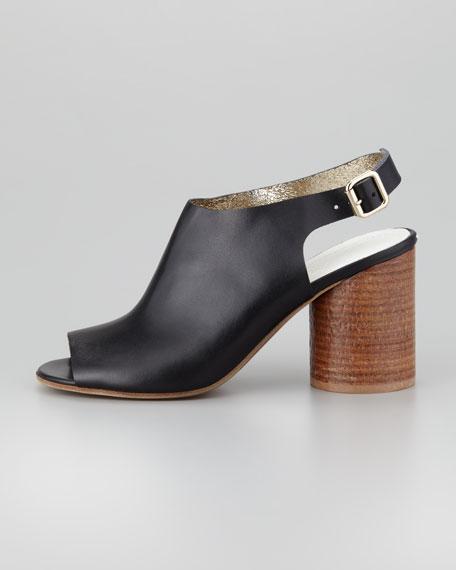 Stacked Cylinder-Heel Sandal