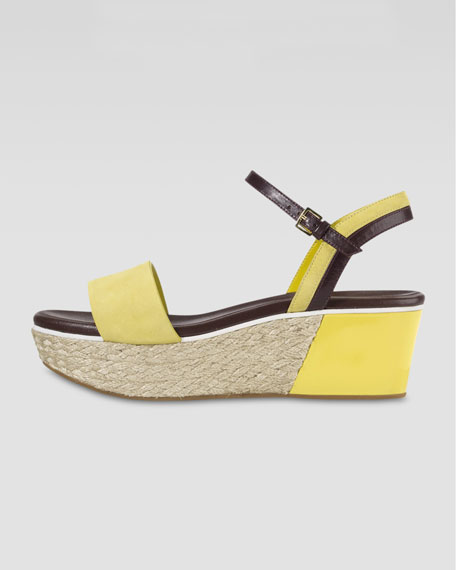 Arden Nubuck Wedge Sandal, Sunlight