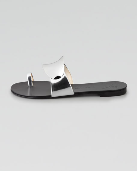 Shield-Covered Flat Slide, Silver