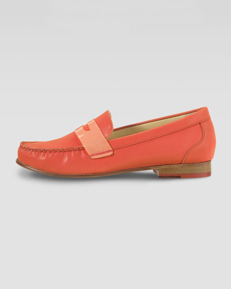 Air Monroe Suede Penny Loafer, Orange