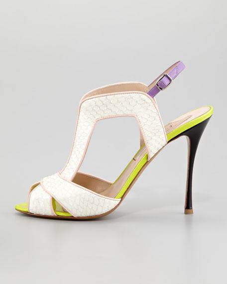 Snakeskin Slingback Sandal