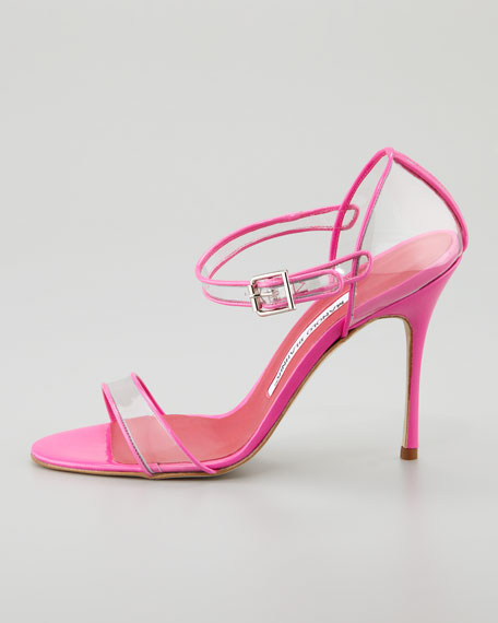 Fersen See-Through Mary Jane Sandal, Pink