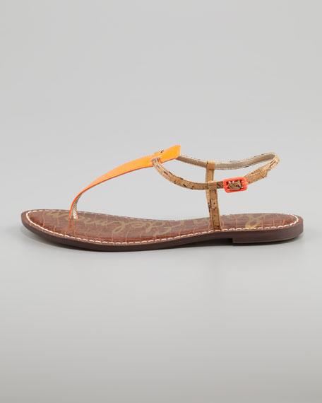 Gigi Neon Sandal, Orange
