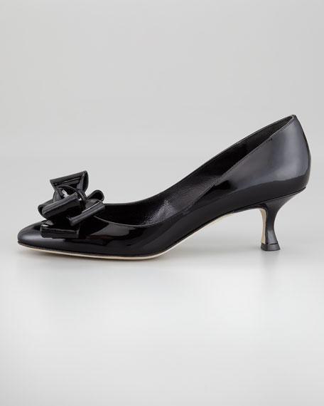 Lisane Bow-Toe Pump, Black