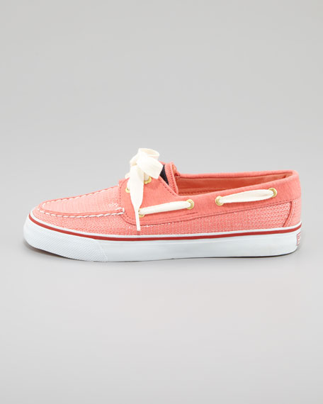 Bahama Sequins Slip-On Sneaker, Coral Jersey