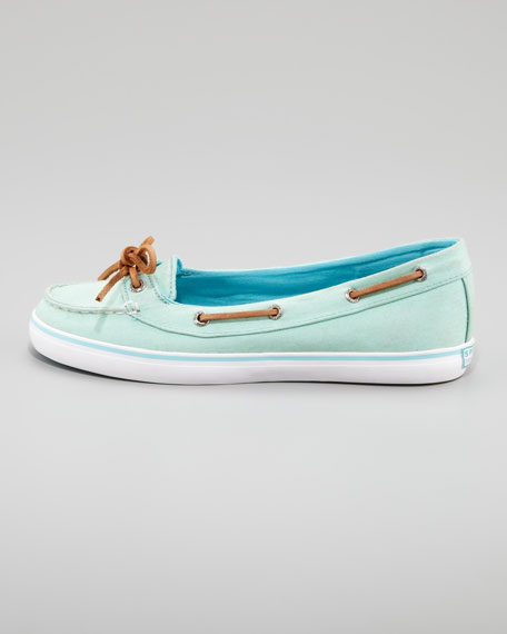 Lola Canvas Slip-On Sneaker, Neon Green