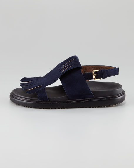 Suede Kilty Sandals