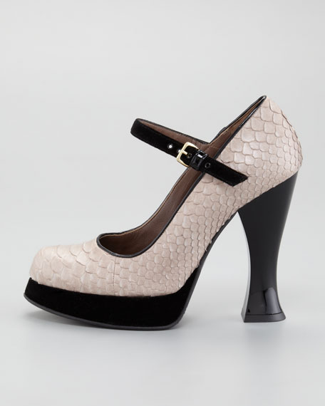 Python Mary Jane Pump