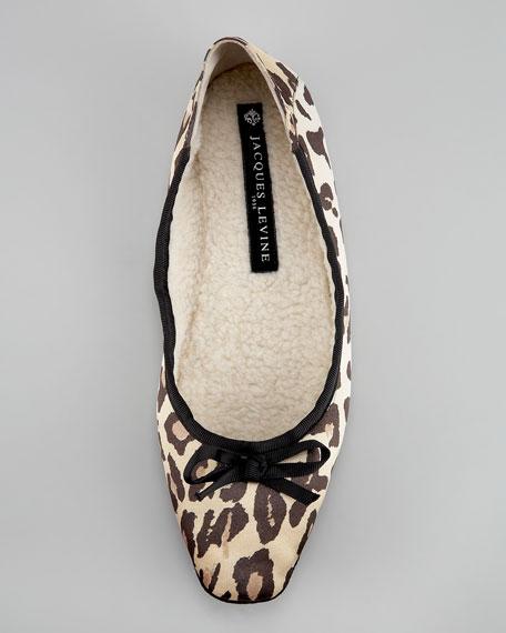 Inslee Leopard-Print Ballerina Flat