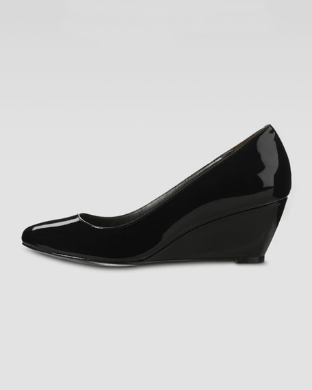 Air Lainey Patent Low Wedge Pump, Black
