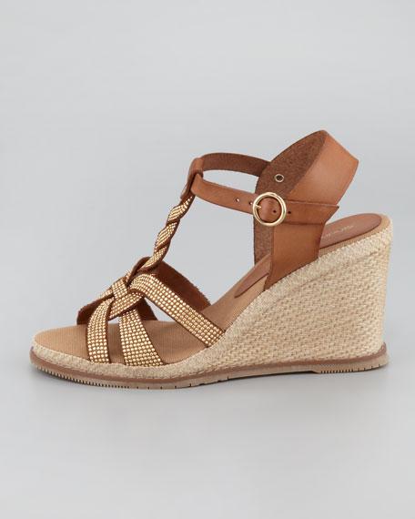Jill Studded Espadrille Wedge Sandal