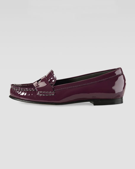 Air Sloane Patent Moccasin, Oxblood