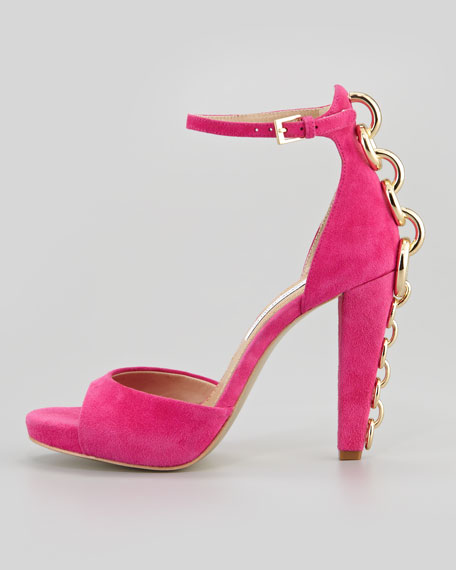 Sofia Chain-Back Runway Sandal, Rose Garden