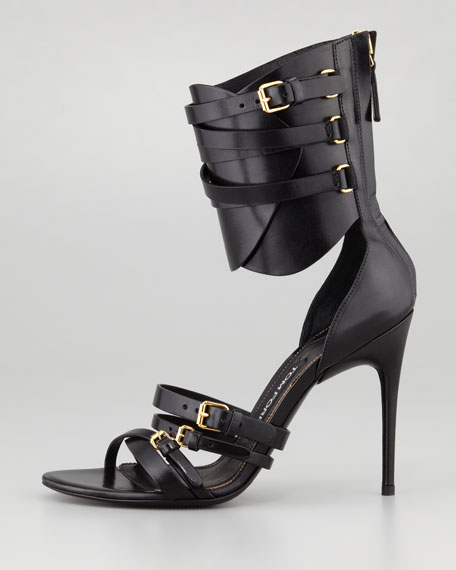 Tom Ford Back-Zip Ankle-Cuff Pump, Black