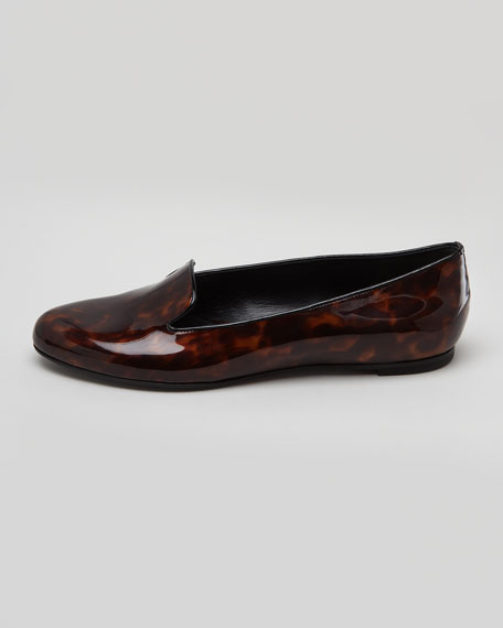 Tortoise Patent Leather Smoking Slipper