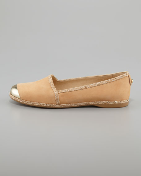 Tipadril Metallic-Tipped Leather Flat