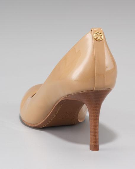 Leah Mid-Heel Patent Pump