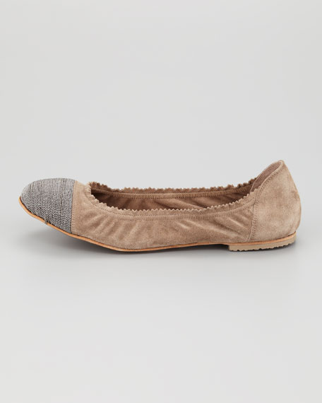 Monili Cap-Toe Ballerina Flat