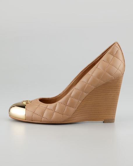 Tory Burch Quilted Cap-Toe Wedges perfect sale online discount perfect factory outlet for sale LtVBvY
