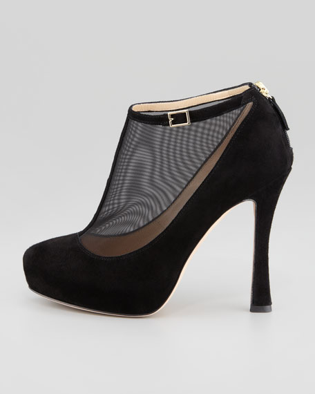 neveah mesh t-strap bootie