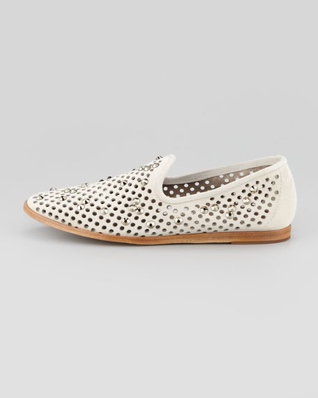 Yaden Perforated Crystal Smoking Slipper, Ice