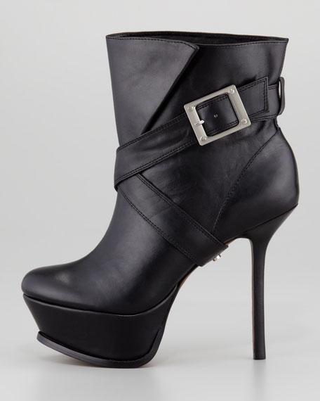 Michelle Leather Platform Boot