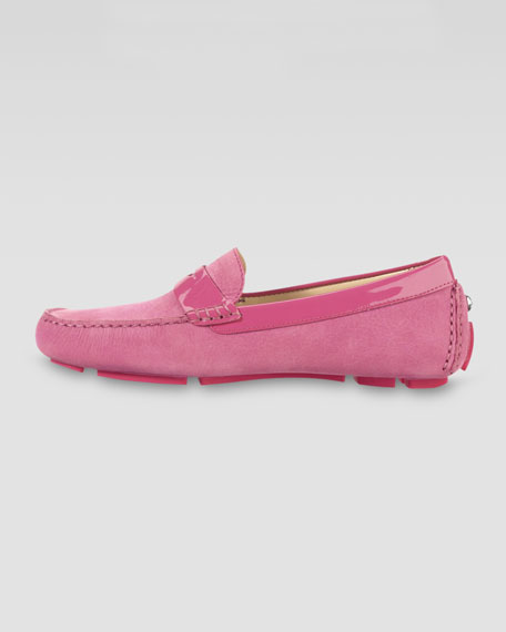 Trillby Nubuck Driver, Punch Pink
