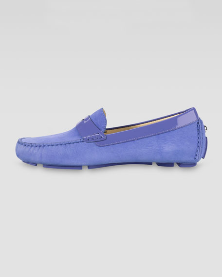 Trillby Nubuck Driver, Blueberry