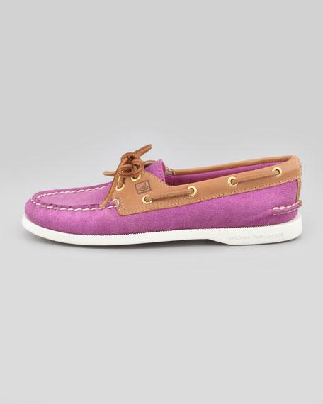 American Original Sparkle Suede Boat Shoe, Pink