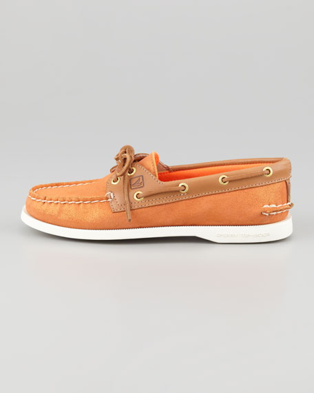 Authentic Original Sparkly Boat Shoe, Orange