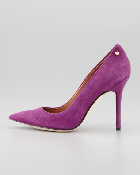 Ava Suede Pointed-Toe Pump
