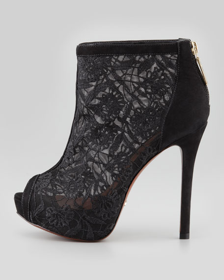 Andria Lace Mesh Bootie