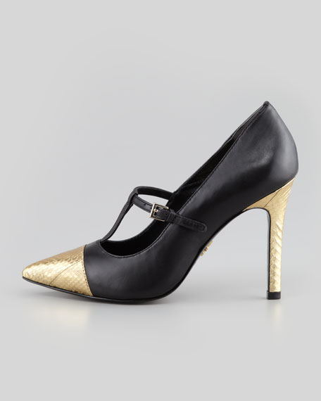 Carmendy Mary Jane Cap-Toe Pump