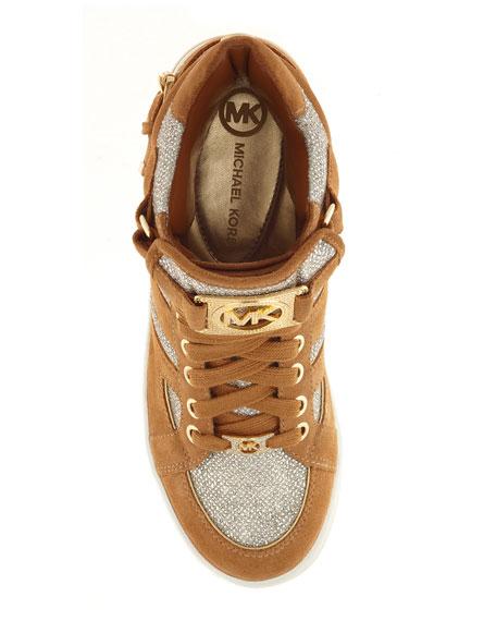 Suede/Glitter Sneaker
