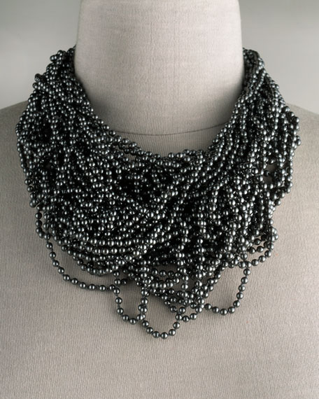 Multi-Strand Pearl Necklace