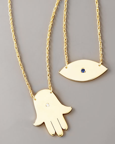 Reversible Hand & Eye Necklace