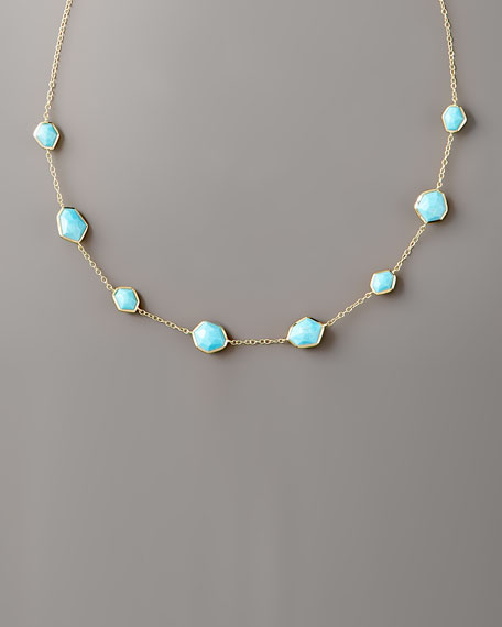 """Turquoise Necklace, 18""""L"""