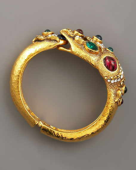 Multi-Jewel Serpent Bracelet