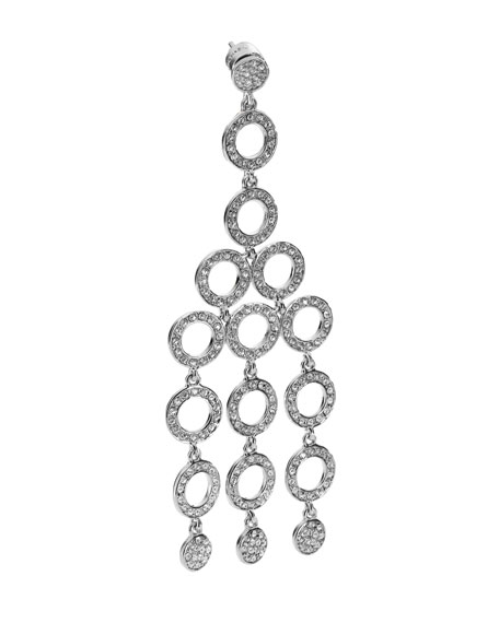 Chandelier Earring with Pave Detail