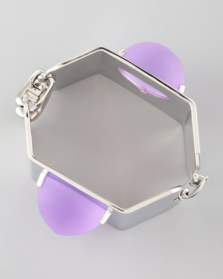 Three-Sided Pyramid Cuff, Lavender