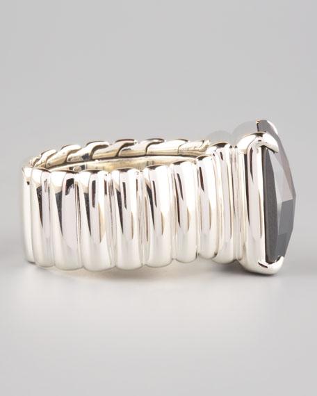 Wide Band Ring, Hematite